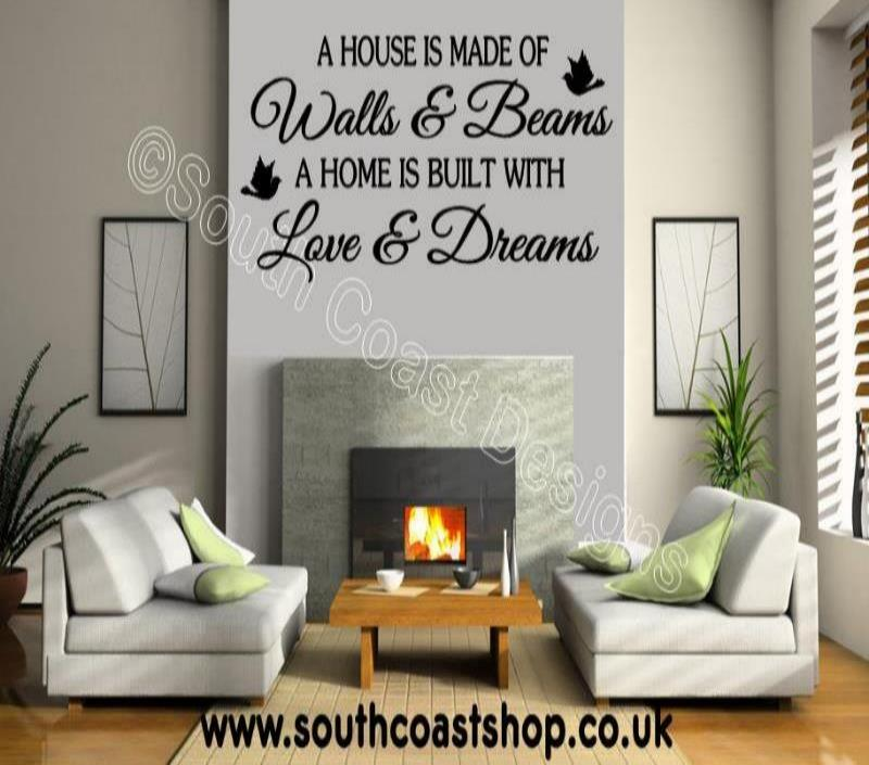 A House Is Made Of Walls And Beams Wall Stickers