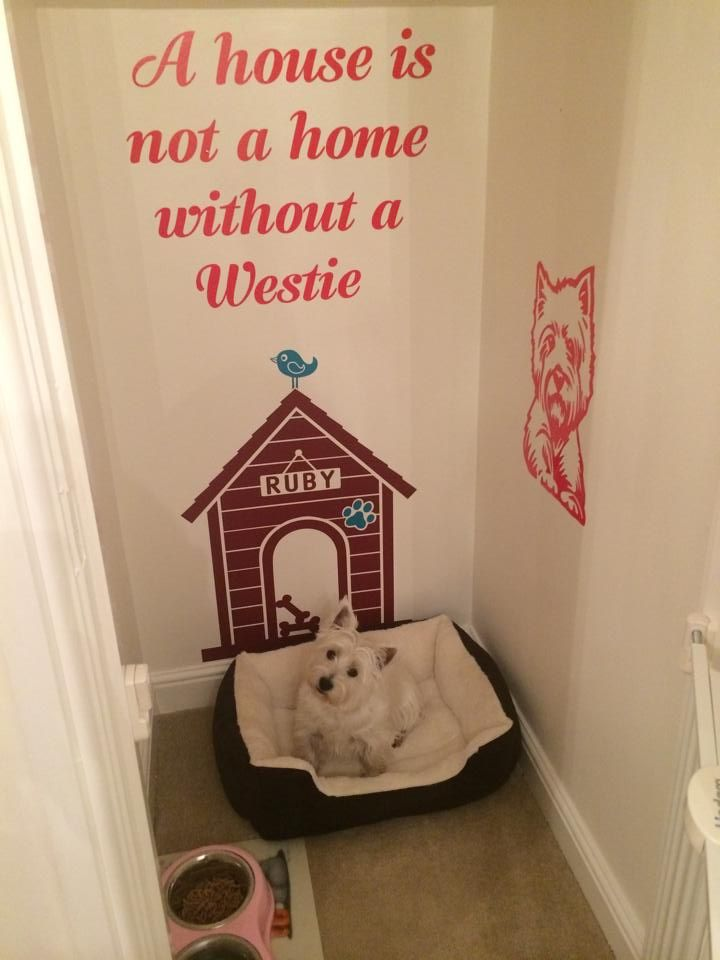 A House Is Not A Home Without A Westie Westie Wall Sticker