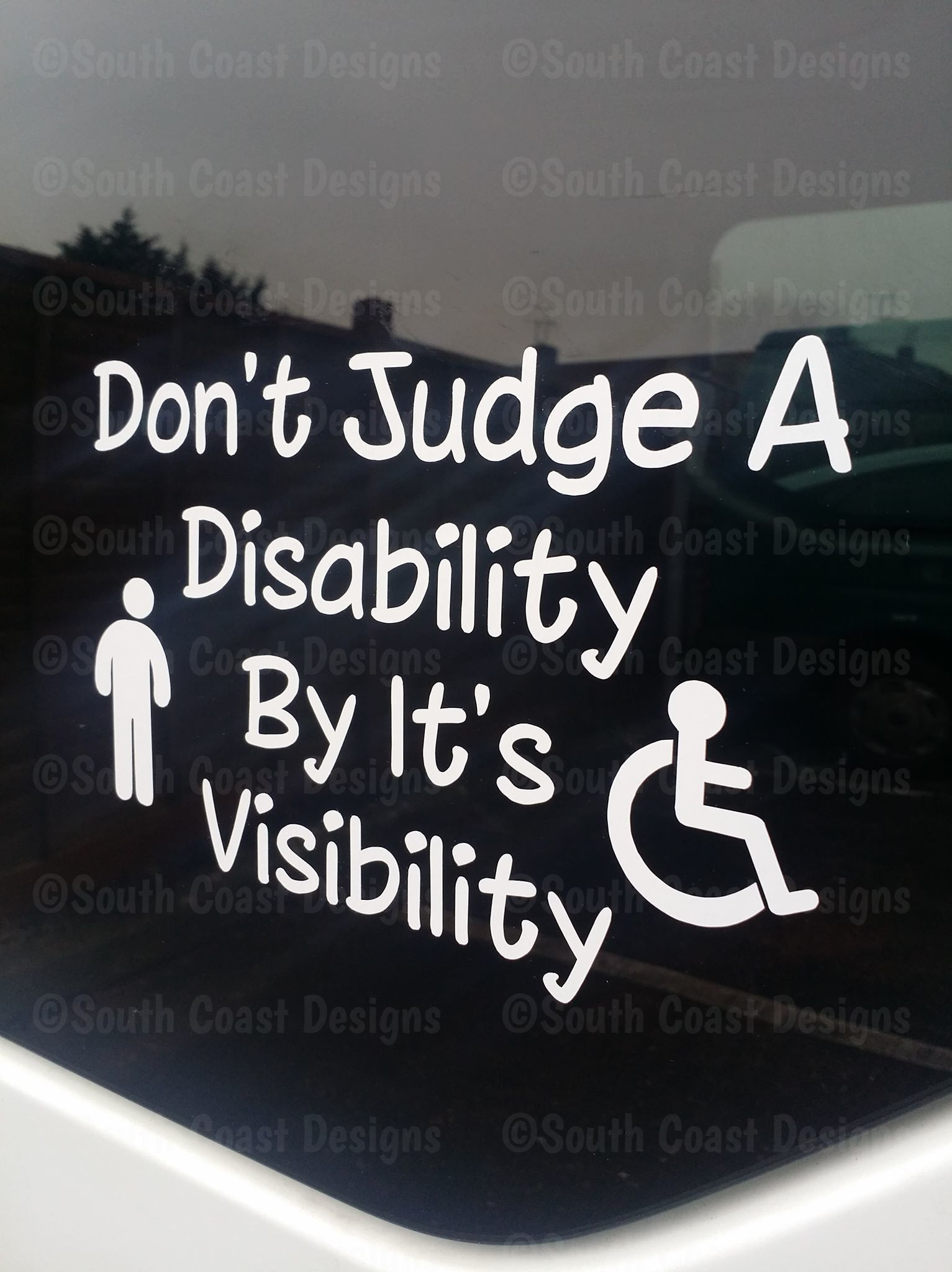 External Sticker // Sign Cold Callers Be patient I am Disabled Disabled