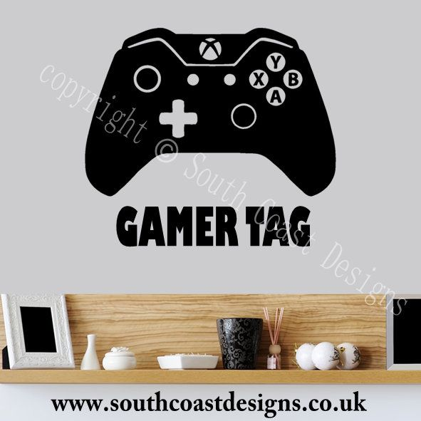 xbox one controller wall sticker with your gamer tag